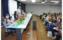 Evento realizado no Auditório Padre Anchieta. Fotógrafo Antônio Albuquerque. Acervo Núcleo de Memória.