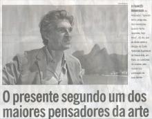 Matéria no jornal O Globo, Segundo Caderno, 15/04/2012.