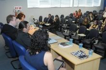 Também estiveram presentes os Professores Pedro Marcos Nunes Barbosa, Caitlin Sampaio e Daniela Vargas. Fotógrafo Antônio Albuquerque. Acervo do Núcleo de Memória.