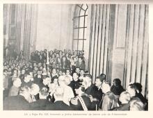 Bênção da pedra fundamental pelo Papa Pio XII. Dezembro de 1950.