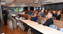 Evento realizado na sala F300, com a presença do Reitor Pe. Josafá Carlos de Siqueira S.J. e do Vice-Reitor Acadêmico Prof. José Ricardo Bergmann. Fotógrafo Antônio Albuquerque.