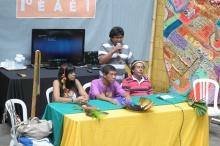 Uma das mesas de debates realizadas no Anfiteatro Junito Brandão. Fotógrafo Antônio Albuquerque. Acervo do Núcleo de Memória.