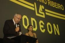 O Reitor Prof. Pe. Josafá S.J. na abertura do evento. Fotógrafo Pedro Myguel Vieira. Acervo Projeto Comunicar.
