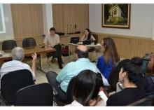 Seminário realizado na sala L201. Fotógrafo Antônio Albuquerque. Acervo Núcleo de Memória.