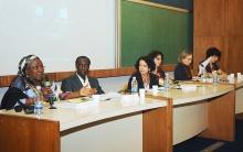Uma das mesas do Seminário Internacional Brasil-Senegal. Fotógrafo Weiler Finamore Filho. Acervo do Projeto Comunicar.