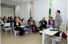 Seminário realizado na sala K109. Fotógrafo Antônio Albuquerque. Acervo Núcleo de Memória.