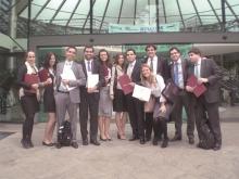 Alunos participantes da competição. Acervo do Grupo de Estudos em Arbitragem e Direito do Comércio Internacional da PUC-Rio.