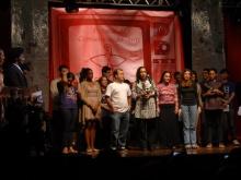 Equipe da TV PUC-Rio na cerimônia de entrega do Prêmio. Acervo do Projeto Comunicar.