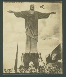 Postal da Inauguração do Cristo Redentor.