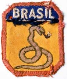 A cobra vai fumar.  Distintivo aplicado nas fardas da Força Expedicionária Brasileira que lutou na 2ª guerra mundial.