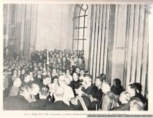 O Papa Pio XII abençoa a pedra fundamental da futura sede da PUC-Rio na Gávea.