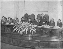 Mesa que presidiu à instalação dos cursos do Instituto de Psicologia Aplicada.