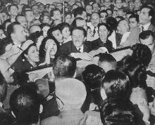 Grande comoção popular no velório de Vargas.
