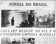 Primeira página da edição do Jornal do Brasil de 02/04/1964