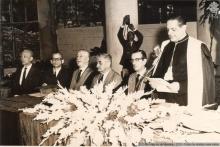 Inauguração do prédio da Biblioteca Central, presidida pelo Reitor Padre Laércio Dias de Moura S.J.