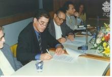 Luiz Alberto Adão da Fonseca, Presidente do Instituto Luíz de Camões e o Reitor Padre Laercio Dias de Moura, S.J.