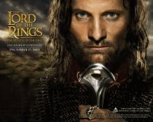 Poster de divulgação do filme O Senhor dos Anéis: o retorno do rei.
