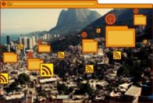 página web do Instituto de Midias Digitais que sinaliza a implantação da rede de Internet sem fio em comunidades do Rio.