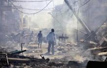 Na capital, Porto Príncipe, uma imagem da destruição.