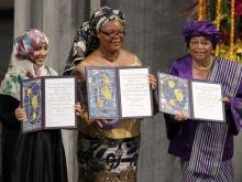 Três mulheres laureadas com Prêmio Nobel da Paz
