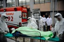 Simulação de atendimento à vítima do Ebola no Brasil. Fonte: Agência Brasil