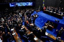 Sessão do Senado para julgamento do impeachment de Dilma Rousseff. Fotógrafo Marcos Oliveira/Agência Senado. Fonte: www12.senado.leg.br