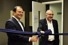 O Reitor Pe. Josafá S.J. e Roberto Sallouti, presidente da BTG Pactual. Fotógrafa Doris Duque. Acervo Comunicar.
