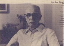 Antônio Cândido em visita à PUC-Rio, em 1988. Fotógrafo Ivan Lima. Jornal da PUC.