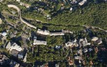 Vista aérea do campus da Gávea. Fotógrafo Nilo Lima. Acervo do Núcleo de Memória.