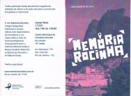 Convite para o lançamento do site Memória Rocinha