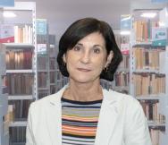 Maria da Conceição dos Santos Ferreira, na Biblioteca Central. Fonte: DBD