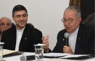 O novo Vice-Reitor Pe. Álvaro S.J. e o Reitor Pe. Josafá S.J.. Fotógrafo Antônio Albuquerque.
