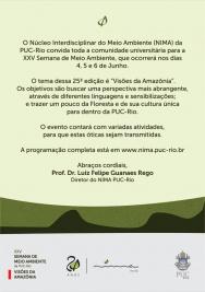 Convite para a Semana do Meio Ambiente