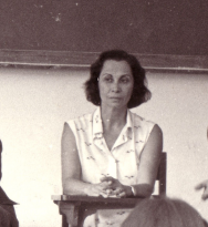 Profa. Cândida Bordenave. 1979. Fotógrafo Antônio Albuquerque.