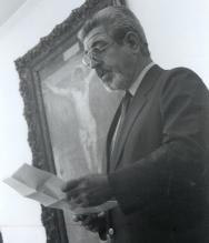 Cerimônia de posse do prof. Amarante como decano do CCBM. Agosto/1992. Fotógrafo Marcus Roberto.
