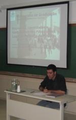Apresentação de Eduardo Gonçalves na sala F512.