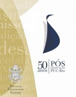 Logotipo dos 50 Anos da Pós-Graduação na PUC-Rio.