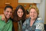 Thiago Zakrzewski, Clara Stiefel e a Profa. Margarida Neves.