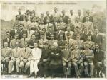 Alunos participandtes de retiro espititual coordenado pelo Pe. Pedro Cerruti S.J. 1950. Fotógrafo desconhecido.