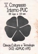 Folheto do V Congresso Interno da PUC-Rio. s.d.
