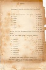 Calendário de reuniões da ADPUC para 1979.