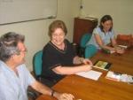 Antônio Albuquerque, Profa. Margarida de Souza Neves e Silvia Ilg durante a entrevista.