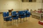 Caixas com material separado para limpeza e digitalização na sala 074.