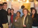 Parte da equipe do Núcleo de Memória na sessão de posters: Eduardo Gonçalves, Ana Beatriz Oliveira, Marcela Lima, Luciana dos Santos, Profa. Margarida Neves e Beatriz Gomes.