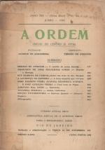Capa da revista A Ordem, junho de 1934. Acervo Biblioteca Central da PUC-Rio.