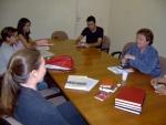 Primeira reunião oficial, na sala de reuniões da VRAC. 07/04/2006.