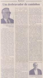 Matéria sobre o Pe. Amaral no Jornal da PUC de no. 119, 03/04/2003.