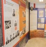Foto de Sobral Pinto, à esquerda, em um dos painéis da exposição. Fonte: site do MPRJ.