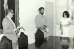 O prof. Alfredo Jefferson em sua posse como diretor do Departamento de Artes, em 1991. Fotógrafo Júlio Cesar Mello. Acervo Comunicar.