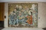 Mosaico Jesus entre os doutores, de Candido Portinari. Fotógrafo Cesar Barreto.